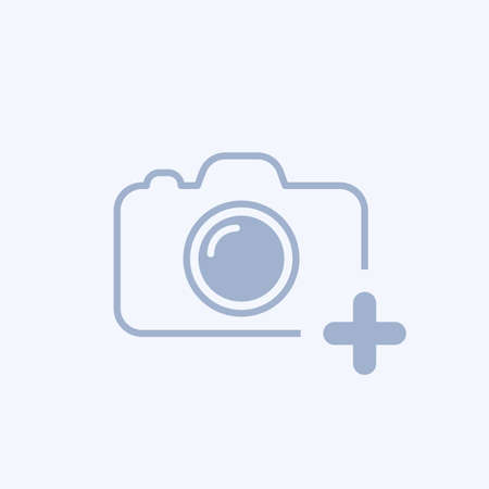 Camera icon with add sign.