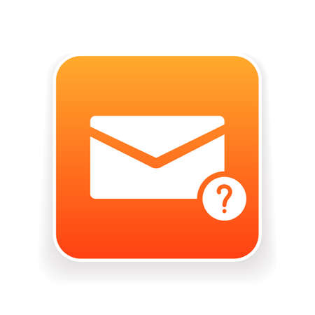 Email icon with question mark. Email icon and help, how to, info, query concept. Vector icon illustration. Иллюстрация