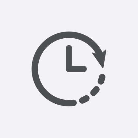 Clock icon. Countdown, deadline, schedule, planning symbol. Vector icon
