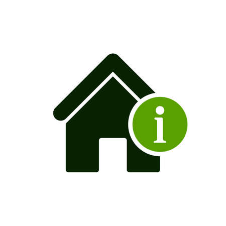 House icon with information sign image illustration