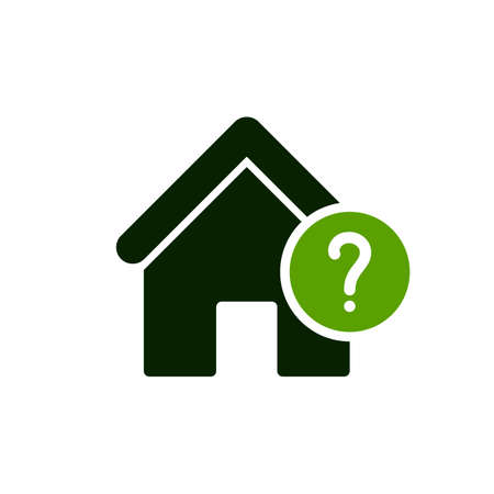 House icon with question mark image illustration