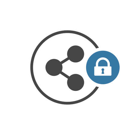 Share icon with padlock sign.