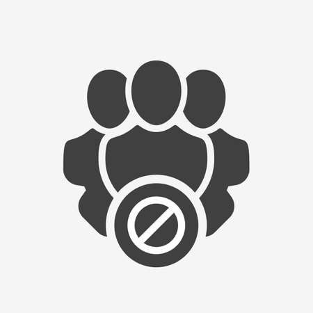 Professional services icon with not allowed sign. Professional services icon and block, forbidden, prohibit symbol. Vector icon