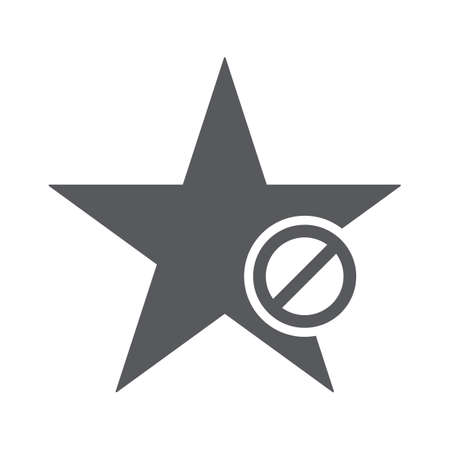 Star icon with not allowed sign Illustration