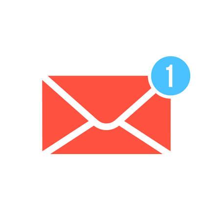 New message, notification icon on white background. Illustration