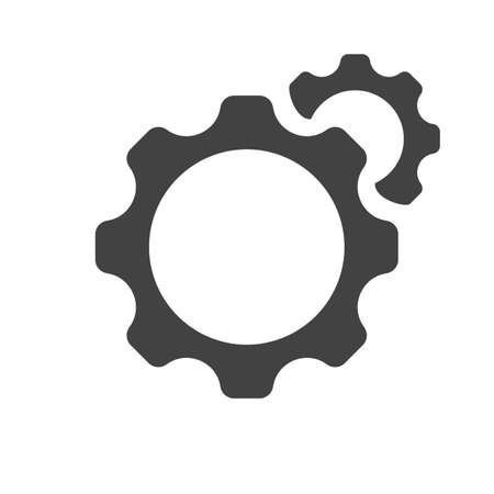 Setting icon vector, Tools, Cog, Gear Sign Isolated on white background. Options icon.