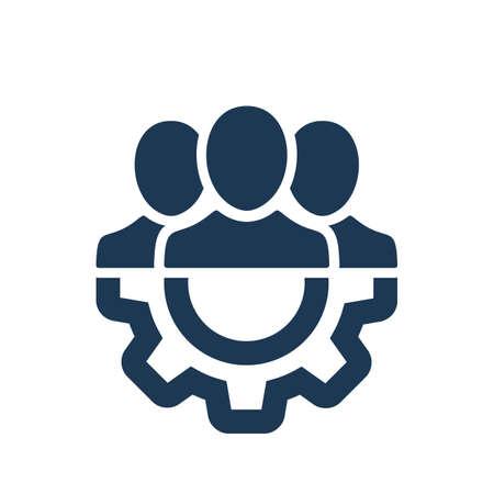 Management Icon. Teamwork management icon