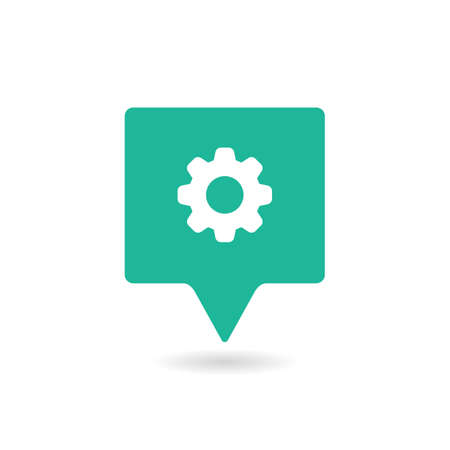 GPS icon with settings sign. Illustration