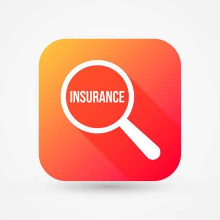 Insurance Word in Magnifying Glass illustration. Illustration