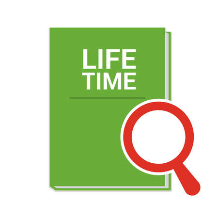 Magnifying Glass With Words Life Time Vector illustration Illustration