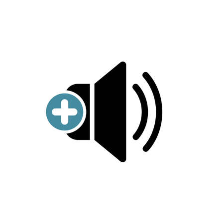 Speaker icon with add sign.
