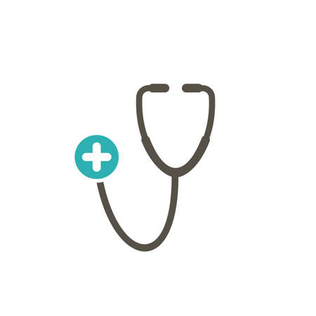 Medical icon with add sign. Medical icon and new, plus, positive symbol. Vector illustration Illustration