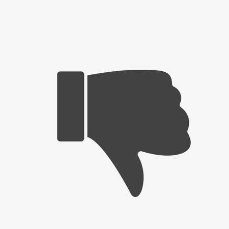 Dislike icon, gestures icon. Glyph, Solid style. Vector illustration