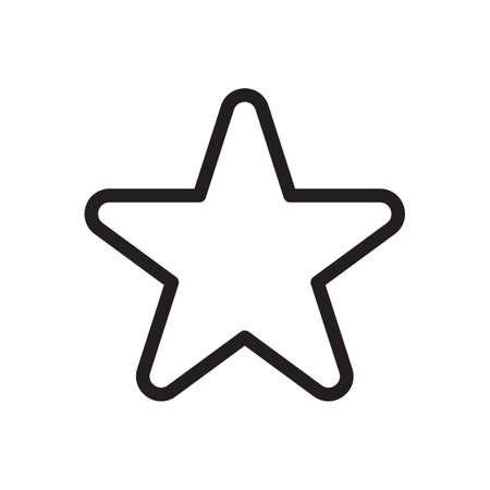 Star icon, signs icon. Outline bold, thick line style, 4px strokes rounder edges. Vector illustration Illustration