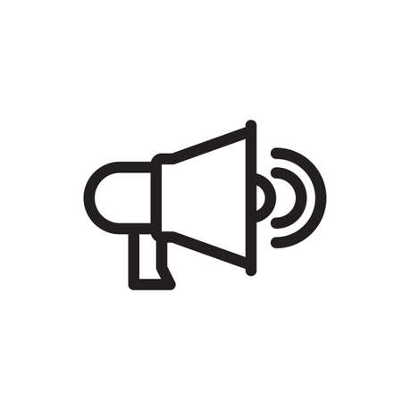 Speaker icon, technology icon. Outline bold, thick line style, 4px strokes rounder edges. Vector illustration