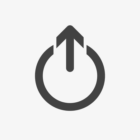 Logout icon, signs icon. Glyph, Solid style. Vector illustration Illustration