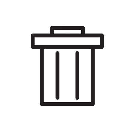 Garbage icon, Tools and utensils icon. Outline bold, thick line style, 4px strokes rounder edges. Vector illustration