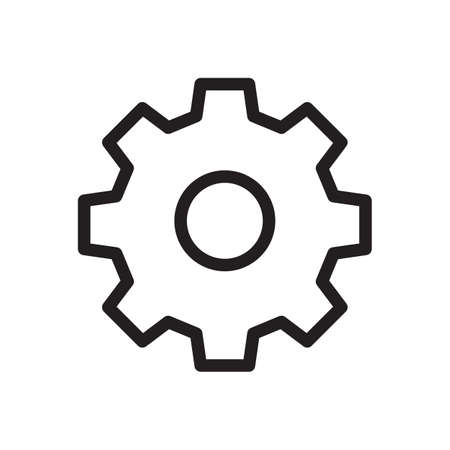 Settings icon, Tools and utensils icon. Outline bold, thick line style, 4px strokes rounder edges. Vector illustration