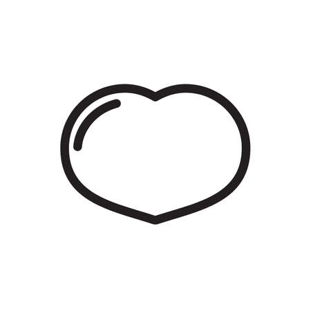 Heart icon, signs icon. Outline bold, thick line style, 4px strokes rounder edges. Vector illustration