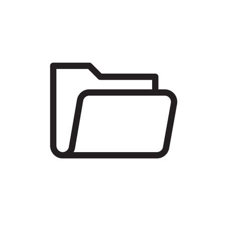 Folder icon, business icon. Outline bold, thick line style, 4px strokes rounder edges. Vector illustration Illustration