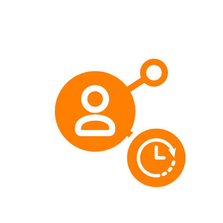 Share icon, multimedia icon with clock sign. Share icon and countdown, deadline, schedule, planning symbol. Vector illustration
