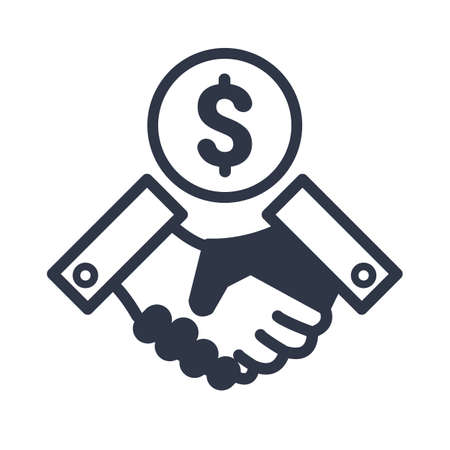 Business agreement - Dollars. Vector illustration