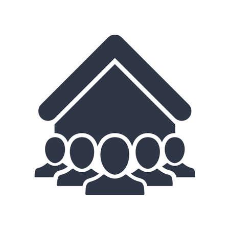 Social community - Vector web icon. Vector illustration