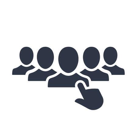 Icono de contratación. Ilustración vectorial