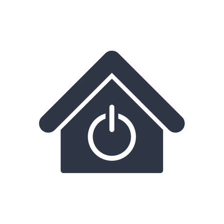 House power switch - Vector web icon. Vector illustration
