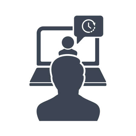 Online Consulting icon, Business Consulting, Business concept icon with time sign. Online Consulting icon and countdown, deadline, schedule, planning symbol
