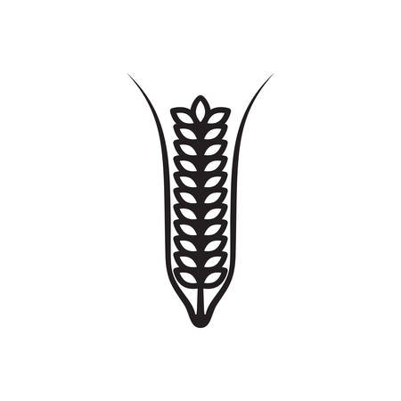 Ears of Wheat, Barley or Rye, vector visual graphic icons, fully adjustable and scalable