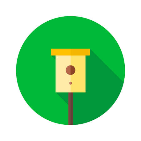 Bird Nesting box. Birdhouse vector illustration