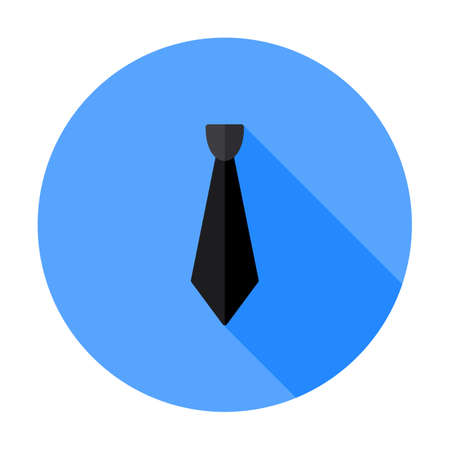 Necktie icon, vector illustration. Tie symbol flat sign design. Dress code style  element. Professional clothing textile fabric. Simple clothes icon. Long piece of cloth outline