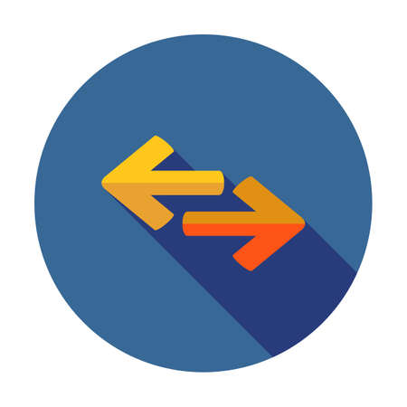 Exchange icon in flat style 矢量图像