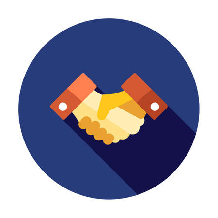Business Handshake. Business icon. Contract agreement sign. Deal symbol. Partnership shaking hands icon