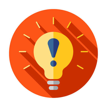Warning light bulb illustration design over a white background 矢量图像
