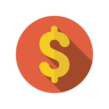 The dollar icon. Cash and money, bill, wealth, payment symbol. Flat Vector illustration. Bill