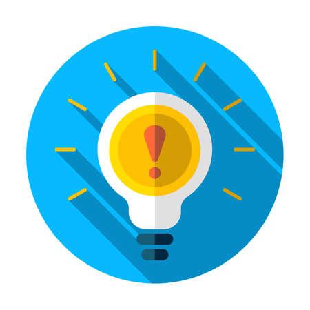 Diseño de ilustración de bombilla de luz de advertencia sobre un fondo blanco. Admire el icono Ilustración de vector