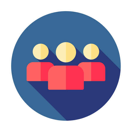 Group of people sign icon. Share symbol. Button with soft shadow. UI website navigation. Social network icons. Group of friends. Cutout people. Leader icon. Community icon. Multiple users silhouette