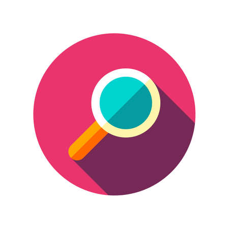 Search Icon Vector. Magnifying glass