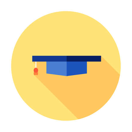 Graduation hat cap art icon for apps and websites