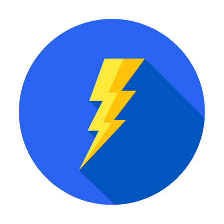 Flash icon. Bolt of lightning vector. Lightning illustration. Streak of lightning sign. Electric bolt flash icon. Lightning design element. Thunder strike logo. Charge flash icon. Thunderbolt icon