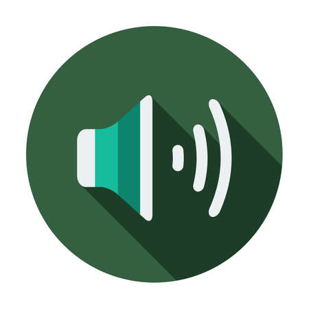 Volume icon, vector illustration. Flat design style