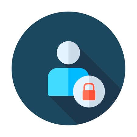 User login or authenticate icon, vector. Personal protection icon. Internet privacy protection icon. Password protected. Security key pad. Account. Connect Illustration