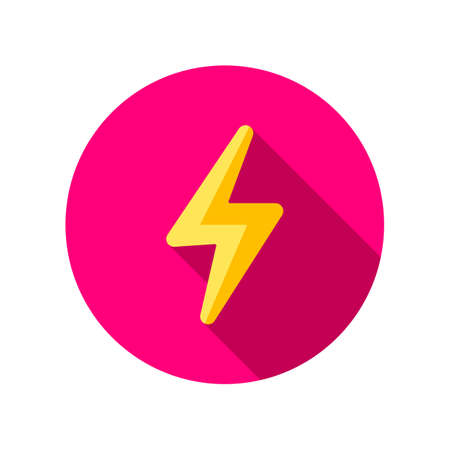 Flash icon. Thunderbolt icon. Bolt of lightning vector. Lightning illustration. Streak of lightning sign. Electric bolt flash icon. Lightning design element. Thunder strike logo. Charge flash icon.