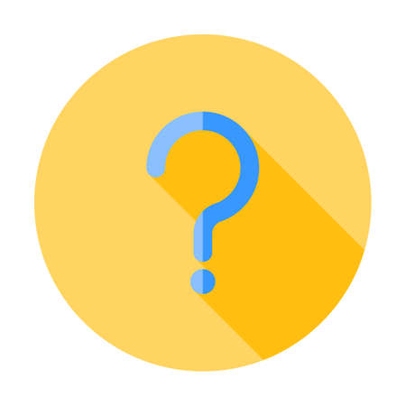 Question mark sign icon, vector illustration. Flat design style with long shadow. FAQ button. Asking questions. Ask for help. Question mark stamp. Need information. Query. Stockfoto - 127520793