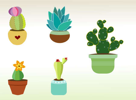 Cactus and Succulent Vector Art for Planner Sticker Sheets and More Ilustração