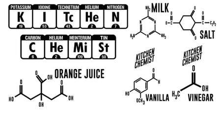 Kitchen Chemist Period Table Vector Word Art Stock Vector   75637321