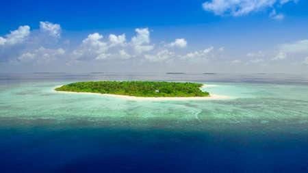 sunnyside: tropical island in maldives Stock Photo