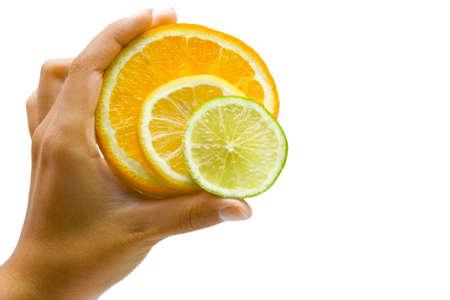 throw up: Orange, lemon and lime